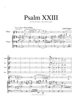 Psalm 23 for voice, oboe & organ